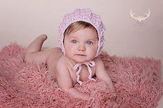 Ravelry: Cable Cross Baby Bonnet pattern by Crochet by Jennifer