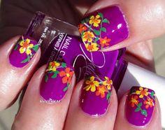 Marias Nail Art and Polish Blog: Fierce & Fab flowers