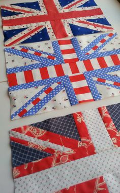 Quilt Story: Union Jack Attack; Memory Quilt for Dad