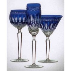 1000 images about wine glasses stemware on pinterest wine glass wine goblets and pottery - Waterford colored wine glasses ...