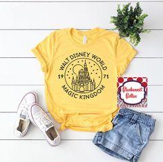 Walt Disney World Magic Kingdom Shirt/Disney Shirts/Disney Shirts for Women/Disney World/Disney Family Shirts/yellow - New Ideas Cute Disney Shirts, Cute Disney Outfits, Disney World Outfits, Disney Themed Outfits, Disneyland Outfits, Disney World Shirts, Disney Shirts For Family, Disney Tees, Disney Family
