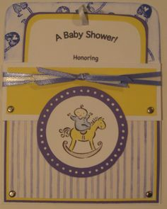 Stampin up baby shower invitations paper crafting cards stampin up baby shower invite with pull out insert filmwisefo