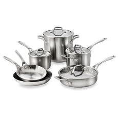 Calphalon® AccuCore™ Stainless 10-Piece Cookware Set and Open Stock - Bed Bath & Beyond