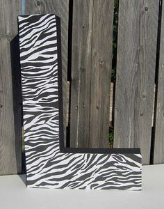 paper mache letters 12 inch custom paper mache letter zebra print by expectationcrafts