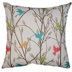 18 Nature Floral Theme Throw Pillow Colorful Birds Sofa Cushion Fun Animal Pattern Square Shape Perfect Your Home Decor Soft & Comfy Polyester Colorful Throw Pillows, Toss Pillows, Accent Pillows, Bird Pillow, Pillow Set, Cushion Pillow, Casablanca, Spring Birds, Floral Theme