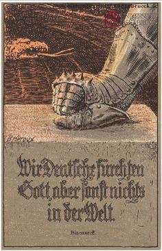 """Auszug aus einer der berühmtesten Reden Bismarcks. """"Wir Deutsche fürchten Gott, aber sonst nichts in der Welt!"""" Reichstag (6. Februar 1888) – dieses Zitat feierten und riefen sich deutsche Nationalisten ad nauseam in Erinnerung. Doch tatsächlich kommt diese bewegende Formulierung ganz am Ende der Rede und ihr geht Bismarcks Erklärung voran, dass das deutsche Reich, eine """"gesättigte Nation"""", es vermeiden müsse, in gefährliche Koalitionen und Konflikte verwickelt zu werden."""
