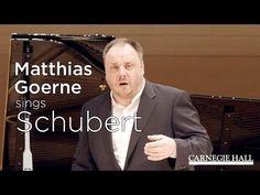 Baritone Matthias Goerne sings Schubert's Die schöne Müllerin (excerpt)