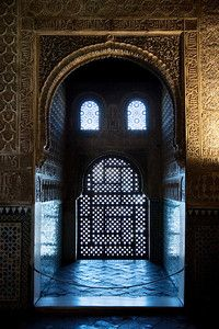 face window alhambra granada spain - Simon Tong Photography