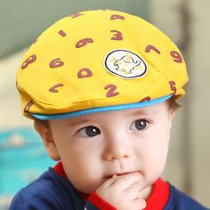 2017 new fall Children hat berets baby cap cartoon boys and girls tide