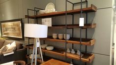 Display shelving from Crate & Barrel