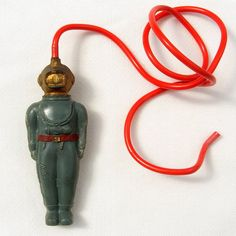 This Vintage Toy Diver was made by Tresco Plastics as a pocket money toy. 1950s Toys, 1960s, Diving Helmet, Pocket Money, Red Belt, Old Toys, Vintage Toys, Plastic, Etsy