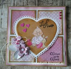 Baby Shower Cards, Baby Cards, Marianne Design, Card Making, Scrapbook, Frame, Card Ideas, How To Make, Tags