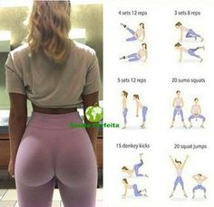 Make your butt perfect just in 1 week! Below the workout for lifting the butt without any gym! All the exercises - Salvabrani Fitness Workouts, Fitness Herausforderungen, Sport Fitness, Butt Workout, Fitness Motivation, Health Fitness, Body Workouts, Fitness Inspiration, Workout Bauch