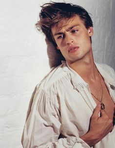Douglas Booth, just some product and you can get the look
