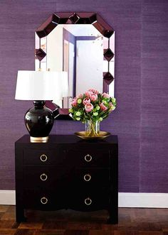 Purple Grasscloth Lane_stylebeat