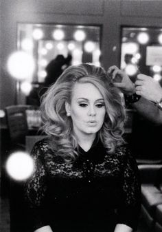 """[Adele] """"I like looking nice, but I always put comfort over fashion. I don't find thin girls attractive; be happy and healthy. I've never had a problem with the way I look. I'd rather have lunch with my friends than go to a gym."""""""
