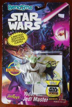 Figurine-STAR-WARS-vintage-1993-YODA-LTD-Edt-CARDS-Bend-Ems-JUST-TOYS