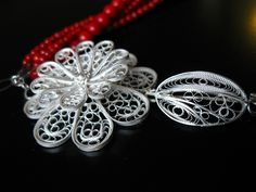 silver necklaces,filigree necklace clasps