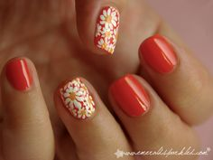Cute flower nails.