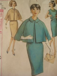 Vintage Simplicity 5359 Sewing Pattern 1960s by sewbettyanddot, $8.50. It is so beautiful. Love it.