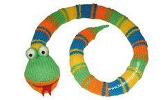 serpent (serpent, serpent) tissé en deux aiguilles ou des bâtons - serpent tricot