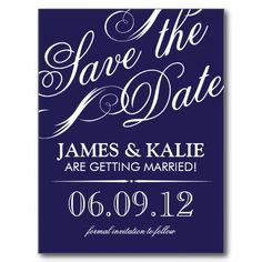 SAVE THE DATE | NAVY BLUE POST CARDS