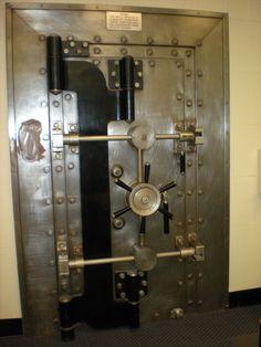 Original bank vault door, no longer used