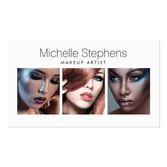 Modern Photo Card for Makeup Artists, Stylists Pack Of Standard Business Cards
