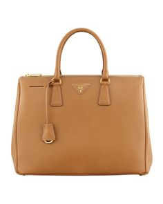 Saffiano Executive Tote Bag, Brown (Caramel) by Prada at Neiman Marcus. camel colored! perf!