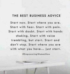 The best advice Just do it Healthy hair savings opportunity sahm Mom entrepreneur Mom boss boss babe mompreneur salon balayage ombré cut color life changing oppor. Motivacional Quotes, Babe Quotes, Quotes To Live By, Hustle Quotes, Dream Quotes, Famous Quotes, Small Business Quotes, Business Advice, Rodan And Fields Business