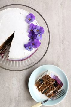 Blueberry Cake with Coconut Frosting (gluten-free & vegan) - Nirvana Cakery