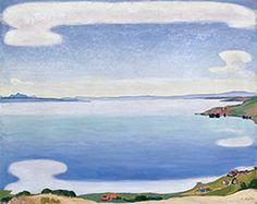 《シェーブルから見たレマン湖》 1905年頃 ジュネーヴ美術・歴史博物館  cMusée d' art et d' histoire, Ville de Genève cPhoto: Yves Siza