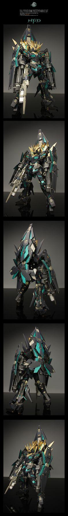 MG 1/100 Unicorn Gundam 02 Banshee Norn. Work by Mosaho.