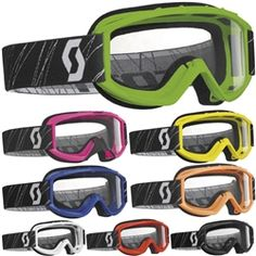 2014 Scott 89 SI Youth Off Road Dirt Bike Motocross Goggles