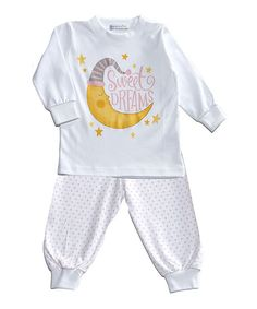 Look at this Hug Me First Pink Sweet Dreams Long Pima Cotton Pajama Set - Infant & Toddler on #zulily today!