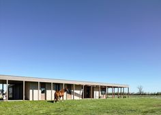 Australian country house by Rob Kennon features a colonnade and a courtyard