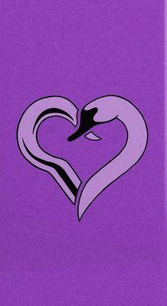 Captain Swan heart - purple by Svenja Gosen