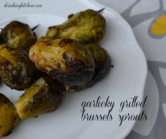 garlicky grilled brussels sprouts by Heather@MamaSass, via Flickr