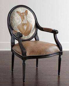 Anthropomorphism {Bennington Chair by Massoud at Horchow)