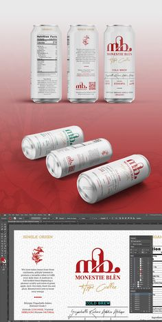 Introducing, Monestie Blèn Hype Coffee Can and Monestie Blèn Hype Coffee Bag template (separated item) for Adobe Illustrator | #ai #arabica #bag #barista #beans #bourbon #beverage #brand #branding #brazil #business #cafe #caffeine #can #canned #coffee #coffeebag #container #design #drink #eps #illustrator #industry #kopi #label #labeltemplate #packaging #print #retail #pouch #red #roastery #template #umkm #vector #versatile #visualidentity #wholebean