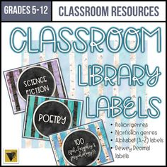 Editable Classroom Library Labels-Middle and High School-Watercolor Forest Genre Labels, Book Bin Labels, Book Bins, Classroom Library Labels, Science Classroom, Classroom Themes, Ela Classroom, Ap Language And Composition, Library Organization