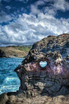 Heart in stone (In Maui) by the blow hole. I wasn't able to see this while on vacation.  This is just another thing I can do while on my next dream holiday vacation in Hawaii! #AbsolutelyNaturalDreamHolidayVacationPinterestContest2013