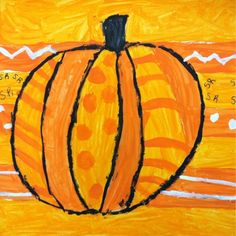 pumpkins in the style of Romero Britto from We Heart Art