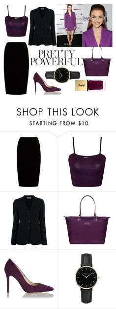 """""""#27 Purple Holland Roden"""" by kateknowles1 ❤ liked on Polyvore featuring Jupe By Jackie, WearAll, Alberto Biani, Lipault, L.K.Bennett, ROSEFIELD and Yves Saint Laurent"""