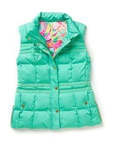Lilly Pulitzer Kate Puffer Vest in Spearmint