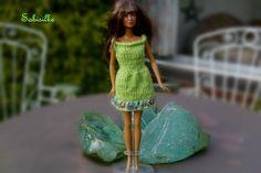 Puppenkleidung - Kleid mit Borte ** für Barbie ** - ein Designerstück von…