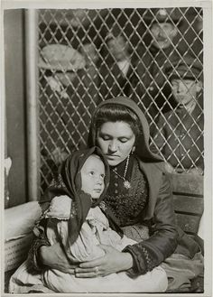 Italian Mother and Child, Ellis Island, New York, 1905, by Lewis Wickes Hine