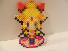 Princess Zelda Perler Bead Keychain. $10.00, via Etsy.