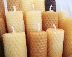Beeswax Candles- Set of 2 Tapered, Candle, Beaswax