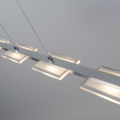 Lámpara colgante VITRO  acero LED con regulador #iluminacion #decoracion #interiorismo
